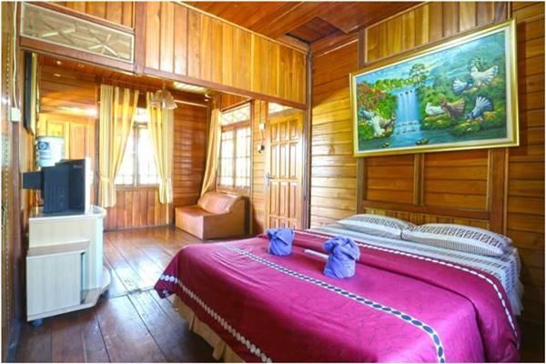 View salah satu kamar Villa Aquarius Orange di Puncak Bogor