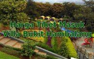 Harga Tiket Masuk Villa Bukit Hambalang Agrowisata Sentul Bogor Jawa Barat Fasilitas Outbound